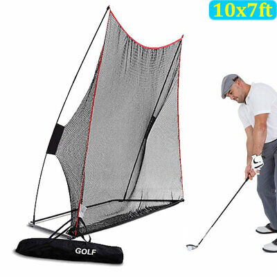 Portable Golf Practice Net Hitting Driving Training Aids 10 x 7FT w/ Carry Bag
