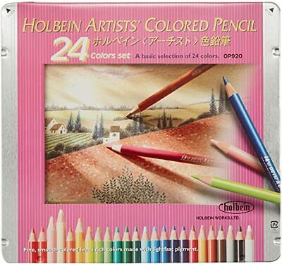 Holbein Artists Coloured Pencil 24 Colours Set a basic selection