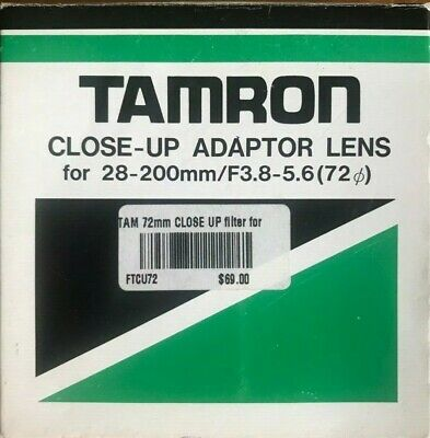 Tamron Close-up Adaptor Lens For 28-200mm 1:3.8-5.6 D72mm
