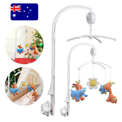 Baby Mobile Crib Cot Musical Bed Bell Wind up Music Box Hanger Arm Toy Bracket