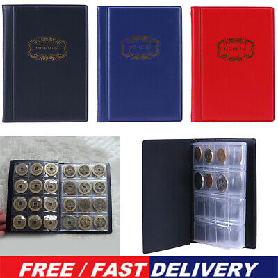 120 Album Coin Penny Storage Book Case Folder Holder Collection Collecting