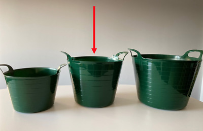 AVAILABLE IN 8 COLOURS BUCKET,STORAGE 26L FLEXI TUB WITH CHOICE OF PLASTIC LID