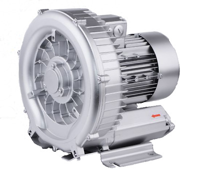 """SINGLE impeller / SINGLE stage Side Channel Blower - 1.3kW, 1 ½"""" Connections"""