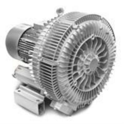 """DOUBLE impeller / SINGLE stage Side Channel Blower - 25kW, 4"""" Connections"""