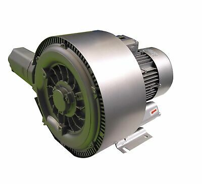 """DOUBLE impeller / DOUBLE stage Side Channel Blower - 5.5kW, 2"""" Connections"""