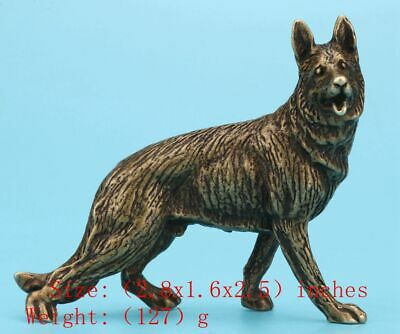 Chinese Bronze Statue Animal Wolf Decorate Solid Mascot Old Gift