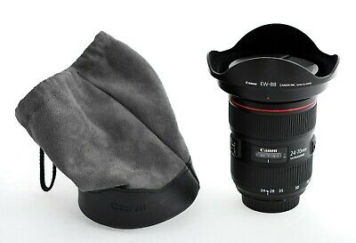 Canon Zoom Lens EF 16-35mm F2.8L II USM Excellent Wide Angle Case and Hood