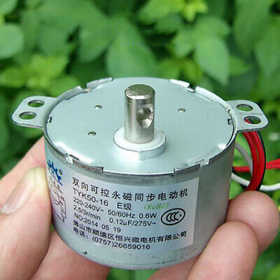 AC 220V 0.6W Synchronous Gear Motor 2.5RPM CW/CCW Micro Motor for Monitor Gimbal