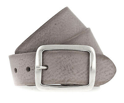 Vanzetti 40mm Full Leather Belt W110 Mouse Gray