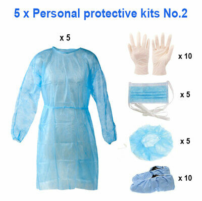 5 x Personal Protection Kits No.2 (35pcs in total)
