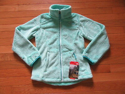 North Face Girls Osolita Fleece Jacket, Ice Green, Nwt, Xs (6)