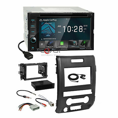 Kenwood DVD Sirius Maetro Carplay Stereo Dash Kit Harness for 09-12 Ford F-150