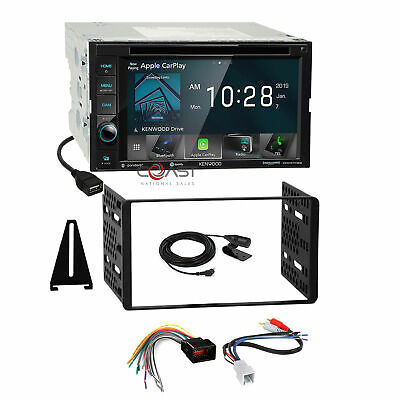 Kenwood DVD BT Carplay Stereo Dash Kit Amp Harness for 98+ Ford Lincoln Mercury