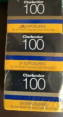 New Clark Color 100 3 Pack 24 EXP 100 XR 135-24 XR Multipurpose Color Print Film