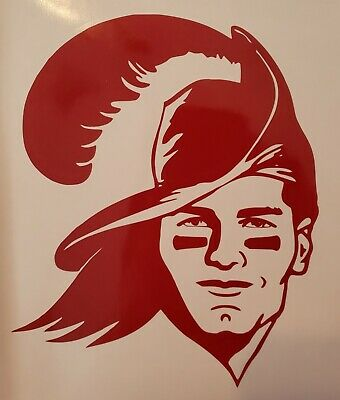 "Tampa Bay Buccaneers Tom Brady 5"" x 7"" Red Vinyl Decal/Sticker"