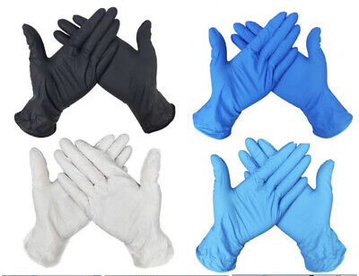 Disposable Latex Free Nitrile Clear Blue Vinyl Gloves Powder Free 100-Boxed