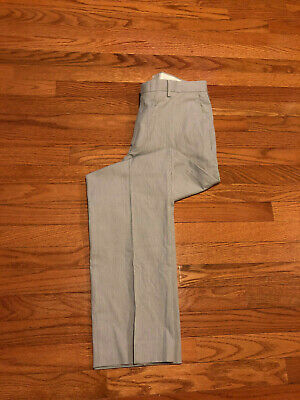 J. Crew Classic Men's Seersucker Gray/Brown Cotton Casual Pants Trousers 32x32