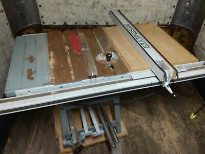 DELTA 10 inch Contractors Table Saw with extension table and outfeed table