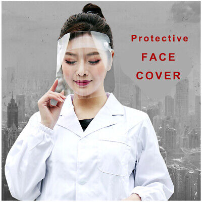 Clear Protective Full Face Safety Shield PET Cover Wind Proof AntiDust Splash
