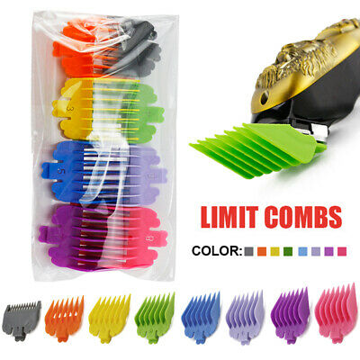 8 Pcs Universal Hair Clipper Limit Combs Guide Size Replacement Set Accessories