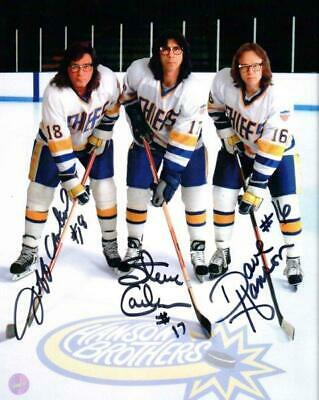 HANSON BROTHERS Slapshot Charlestown Chiefs Signed Autographed 8 x 10 Photo RP