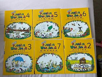 Jolly Phonics Workbooks 2-7: in Precursive Letters by Sue Lloyd, Sara Wernham...