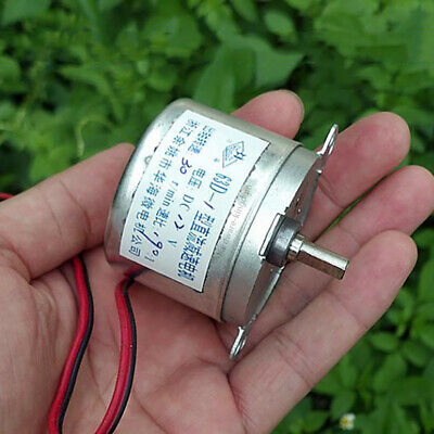 DC12V 30RPM Gear Motor Quiet 530 Reduction Micro Electric Motor Slow Speed 190:1