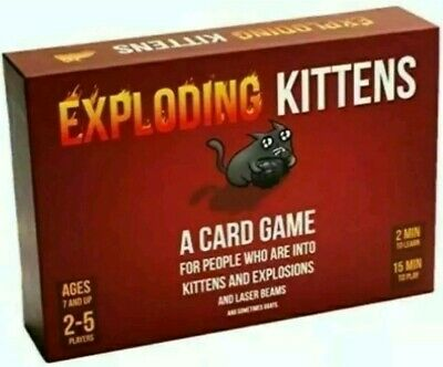 Exploding Kittens Card Game Original Edition * Brand New & Sealed * 2-5 Players