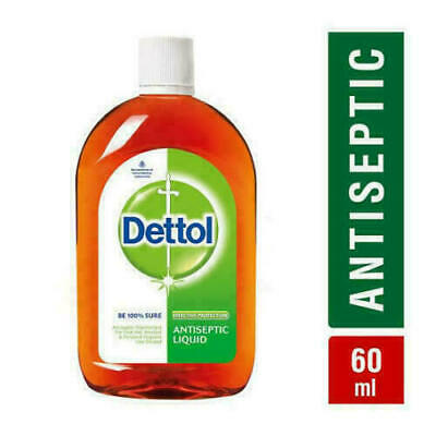 Dettol Antiseptic Disinfectant First Aid Liquid 60 ML Germs free Free Shipping