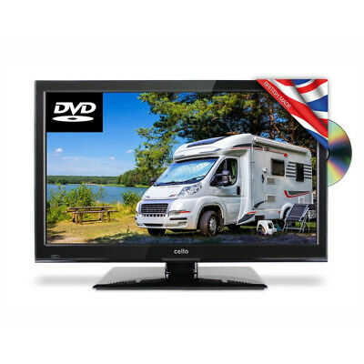 """Cello 22"""" Traveller HD LED 12v Volt TV with Satellite Freeview and Built in DVD"""