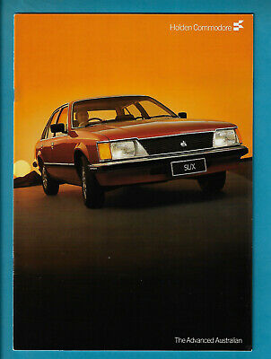 HOLDEN VH COMMODORE SL/X SEDANS & WAGONS 30 PAGE BROCHURE October 1982