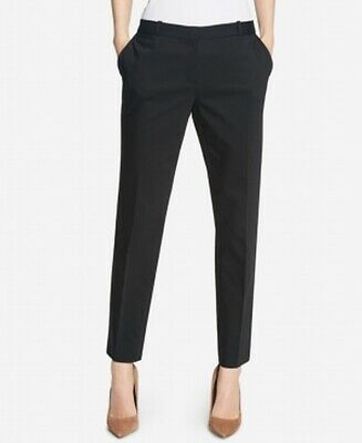 Tommy Hilfiger Womens Pants Black Size 4 Dress Mid-Rise Slim Leg $79- 382