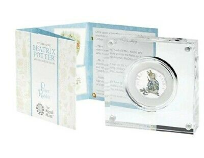 2018 Beatrix Potter Peter Rabbit 2018 UK 50p Fifty Pence Silver Proof Coin