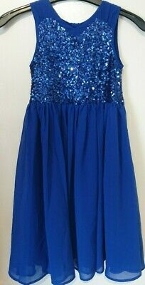 Monsoon Children Edria Girls Royal Blue Sequin Party Dress Age 6 Bnwt Special
