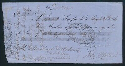 "Australia: 1866 Smythesdale ""RARE Early Gold Rush £40 Bank Time Note"""