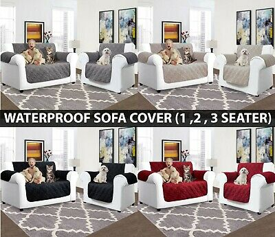 1/2/3 Seater Waterproof Sofa Covers Quilted Furniture Throws Pet Protector Cover