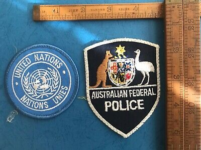 Obsolete Australian Federal Police Patch/United Nations Set