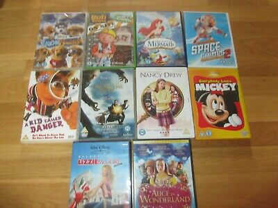 10 kids dvds great condition job lot disney mickey mouse space buddies
