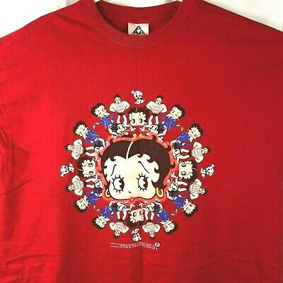 Betty Boop Lifeguard Koko Pudgy 2002 Licensed T-Shirt XL Mens Red