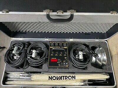 Novatron D1000 Digital Readout Power Pack Lighting Kit With 3 2013-FC Lamps