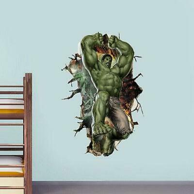 HULK Cartoon Super Hero Avengers Hulk Peel and Stick Wall Sticker
