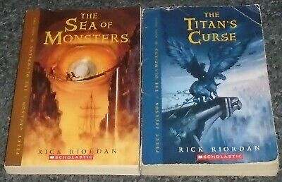Percy Jackson & The Olympians Rick Riordan LOT OF 2 Children's Chapter Books