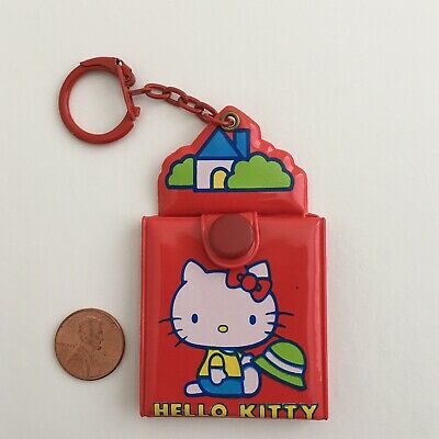 Rare Vintage Sanrio Hello Kitty Mirror Keychain 1976 Brand New Collectible
