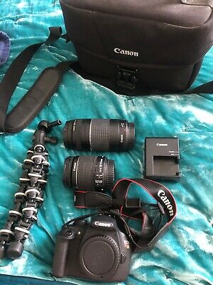 Canon EOS Rebel T5 Digital Slr Camera Kit With Efs 18-55mm Lens And A 75-300 mm