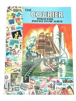 1990 The Courier World Wide Postage Stamp Album Paperback Empty - No Stamps