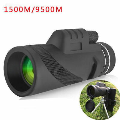 HD 40x60 Powerful Binoculars Zoom Glasses Handheld Telescope Night Vision+Tripod
