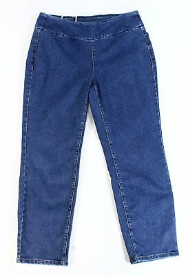 Charter Club Womens Jeans Blue Size 14W Short Plus Pull On Slim Stretch $69 012