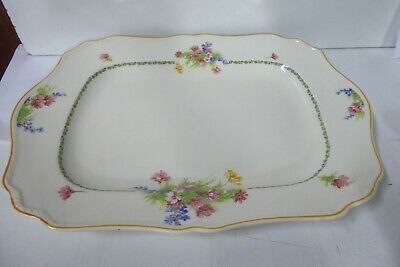 Antique Meakin Floral Charger Plate Platter
