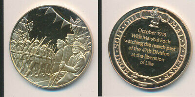 Great Britain: Churchill Watching WWI March Prize 25.6g Gilt Stg Silver Medal