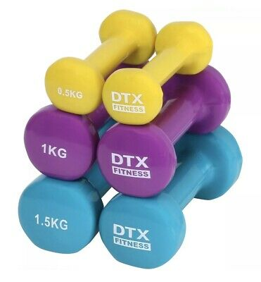(LAST SET) DTX Fitness Dumbbell Weights Set & Case Gym/Exercise/Toning/Aerobics